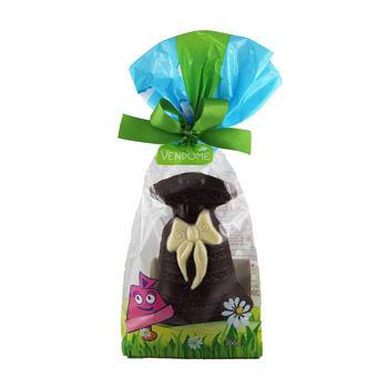 Cloche décorée au chocolat noir Vendome (200g)
