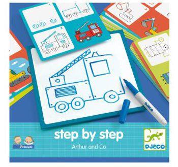 Oxybull : Jeux de dessin step by step arthur (Djeco)