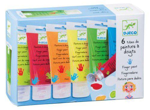 Oxybull : 6 bouteilles de peinture à doigts (Djeco)